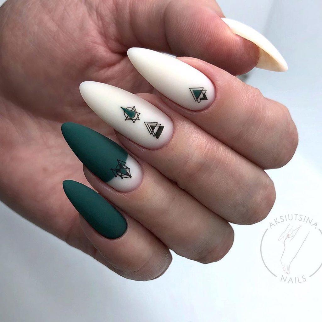 геометрия минимализм на ногтях