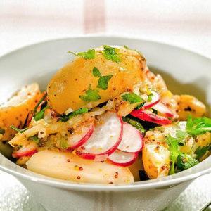 диетический салат с молодым картофелем
