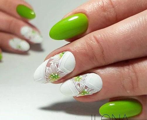 салатовые ногти