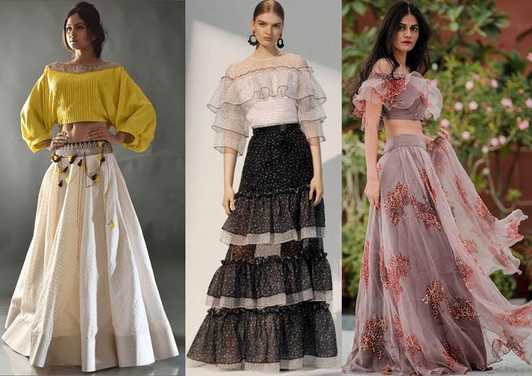 модные топы луки с юбками 2020-2021