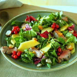 рецепт салата с уткой