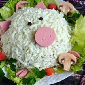 салат свинка рецепт приготовления