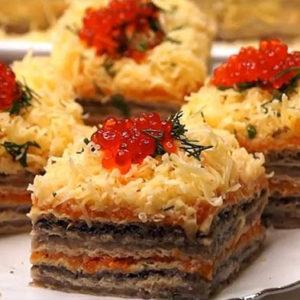 Торт из селедки