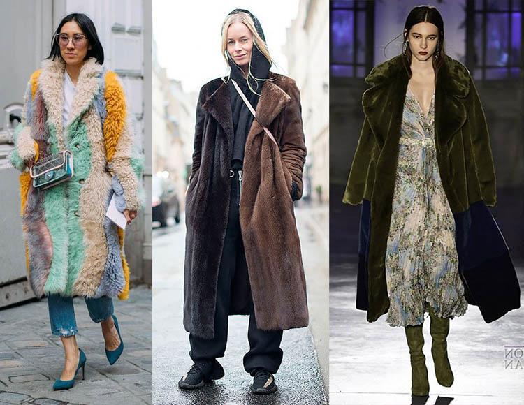 комби цветные шубы пальто из меха