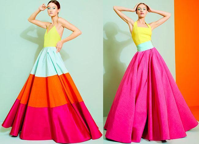 яркие сарафаны с пышными юбками 2020