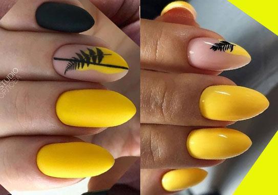 веточки и листья на ногтях новый тренд