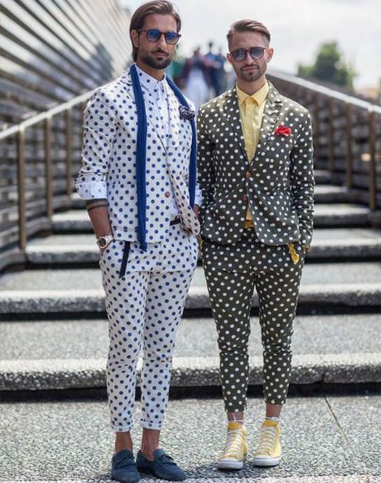 модные мужские костюмы горох 2020-2021