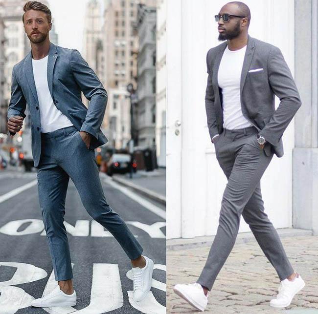 мужской костюм фото 2020-2021 серый цвет