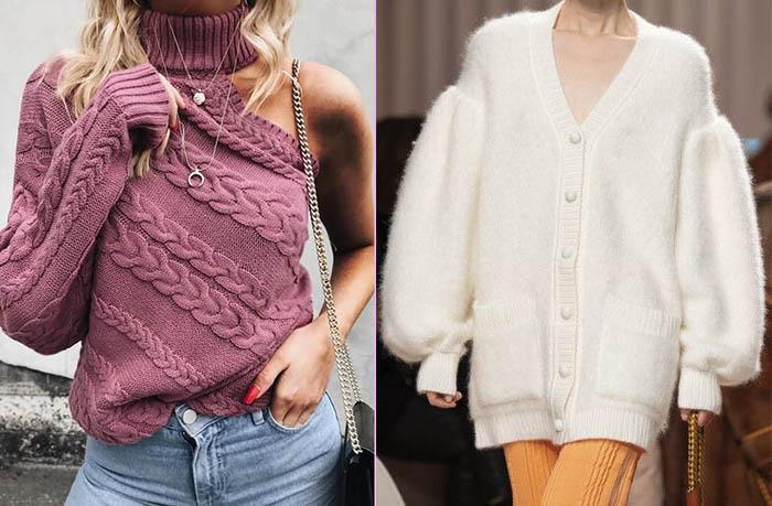 свитера из трикотажа мода 2021