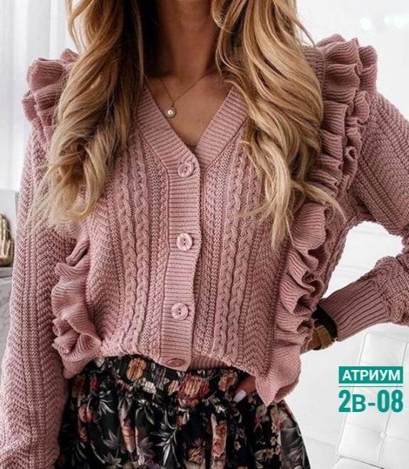 кофта свитер с воланами 2021