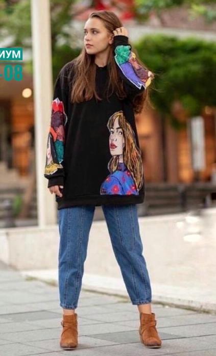 свитера с принтом печатью 2021