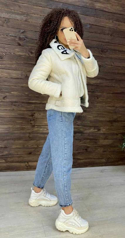 модная дубленка 2021 фото