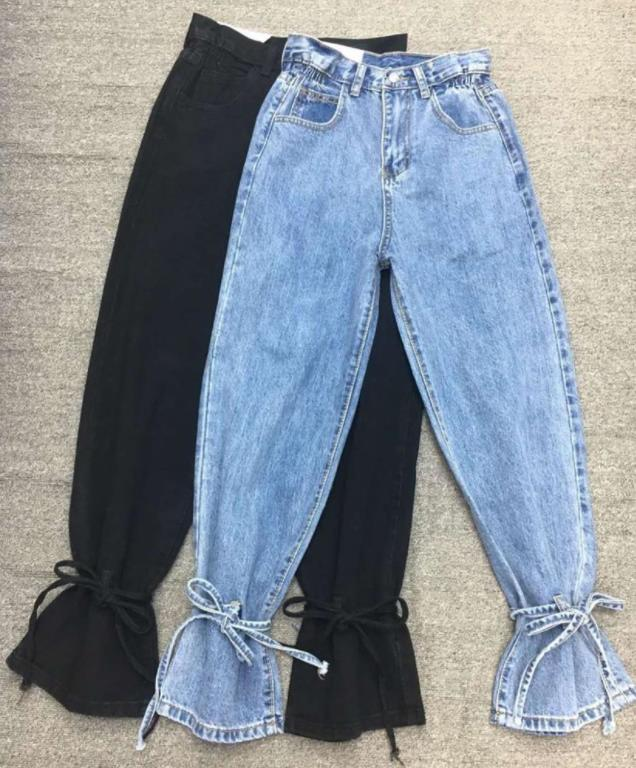 стильные джинсы 2021 с завязками внизу