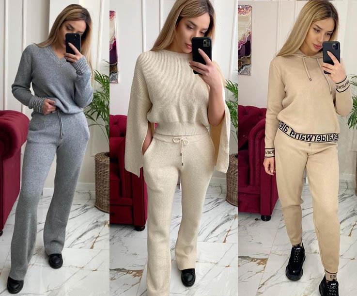 трикотажные костюмы с брюками 2021