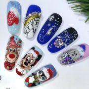новогодний дизайн ногтей с символом года 2021 идеи