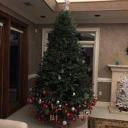 елка украшенная малышом