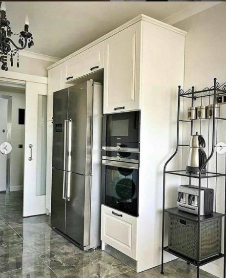 серый дизайн кухни 2021 фото