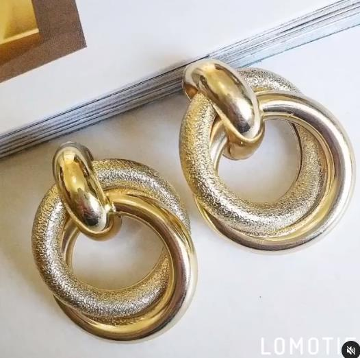 серьги колечки из металла