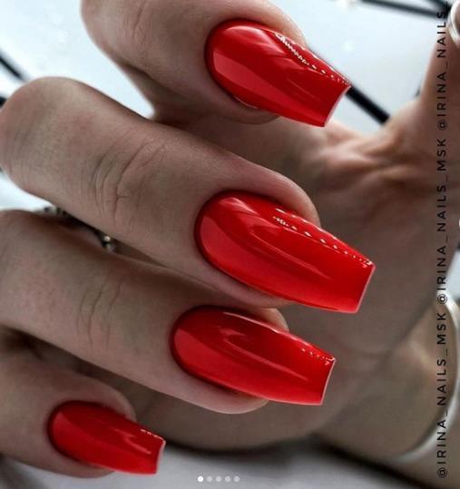 красные ногти идеи оформления