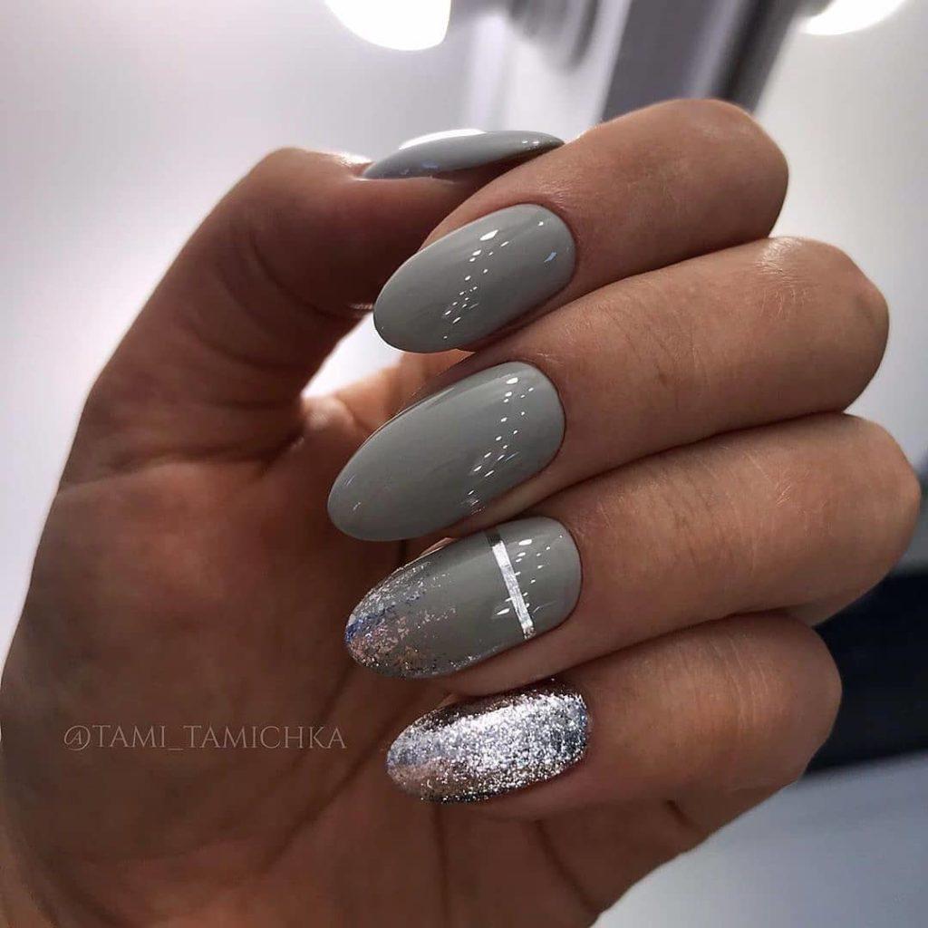 серый маникюр фото 2022 идеи новинок дизайна ногтей