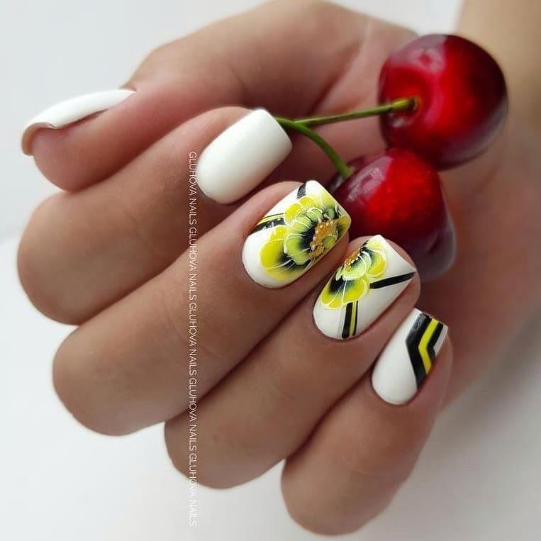 цветы ногти фото идеи ультраяркий маникюр