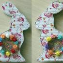 декоративный картонный кролик своими руками