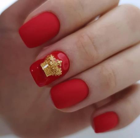 красный ногти маникюр яркий фото