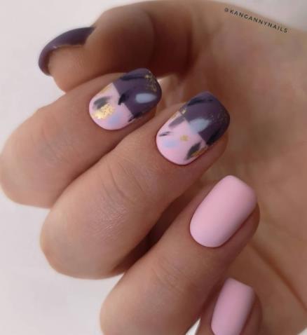 абстракция на ногтях маникюр фэшн