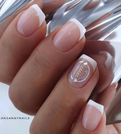 идеи французского маникюра стильные ногти на короткие ногти