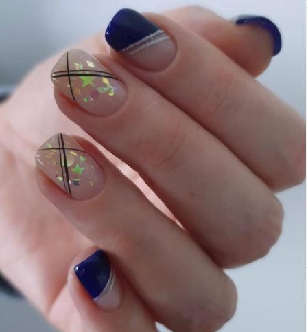 комбинированный микс на ногтхя