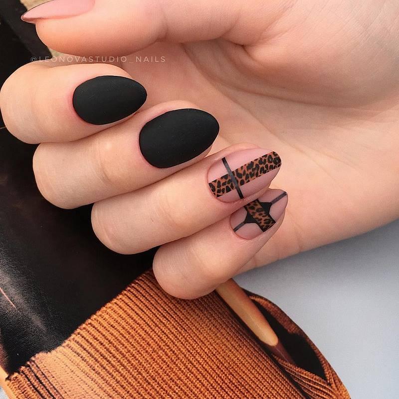 хищный принт декор ногтей