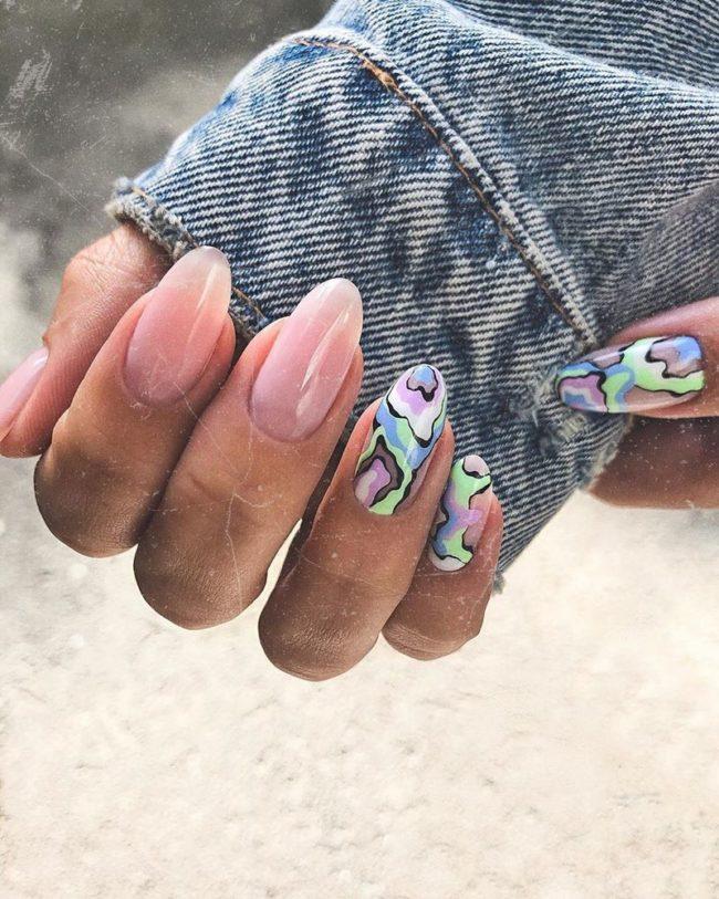 микс декоративных элементов на ногтях женский рай 2022