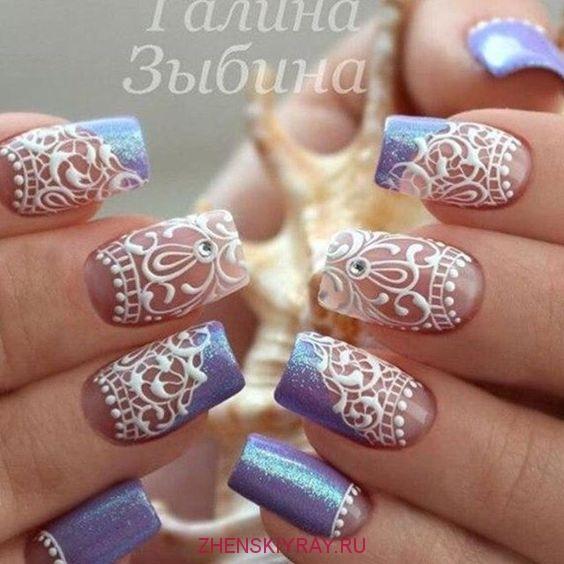 Фото дизайна ногтей с гипюром
